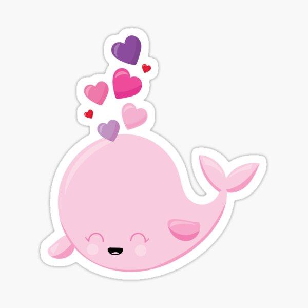 Valentines Day Whale Having A Blast Sticker