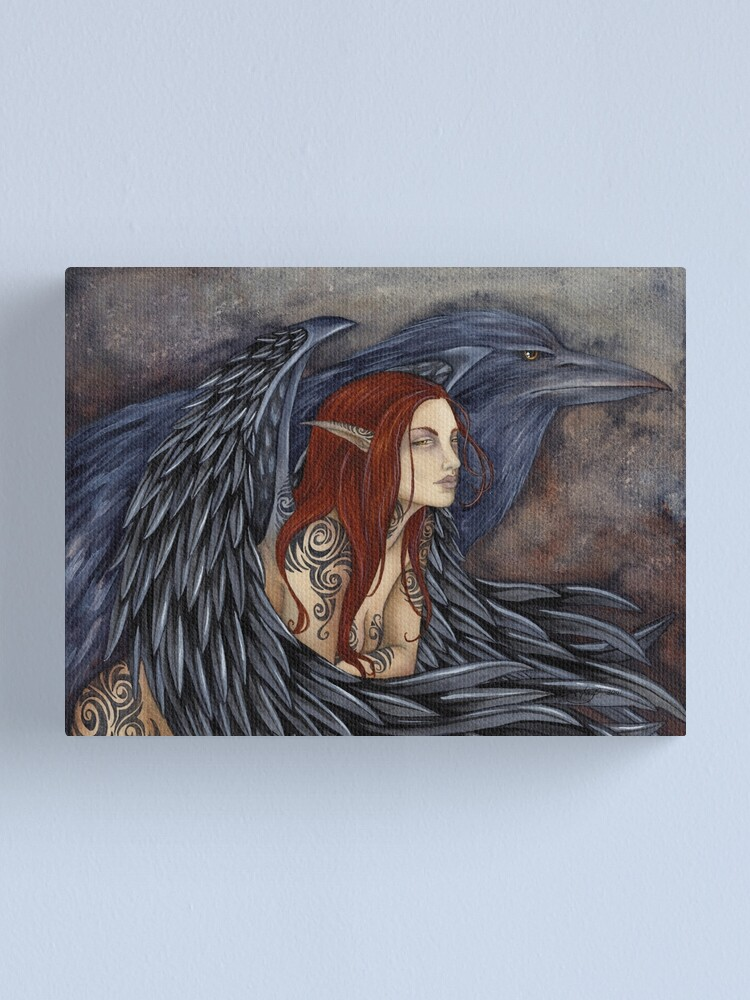Alternate view of The Morrighan Canvas Print