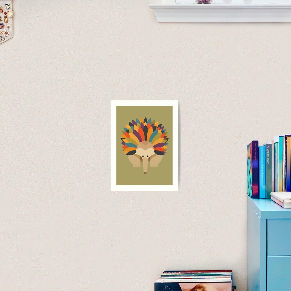 Hello Echidna Art Print