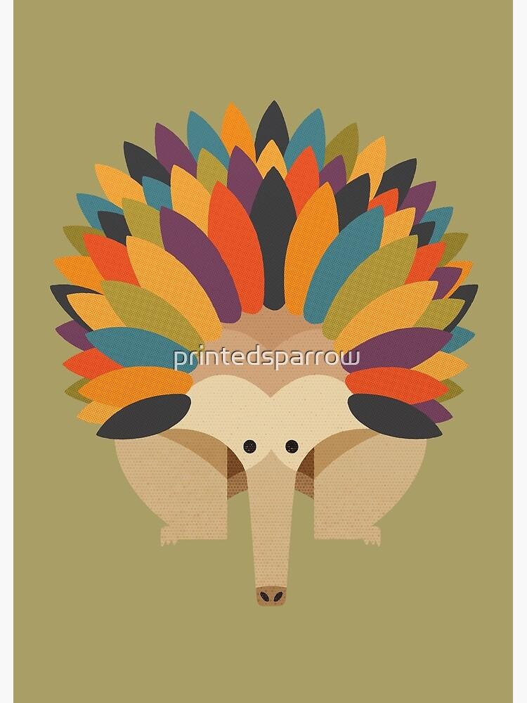 Hello Echidna by printedsparrow