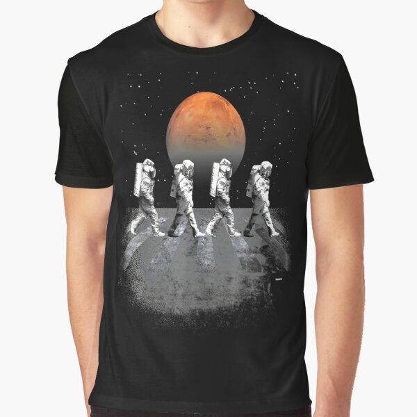 Astronauts in Walking in Space Occupy Mars Graphic T-Shirt