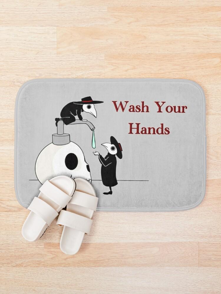 Alternate view of Wash your Hands! Plague doctors.  Bath Mat