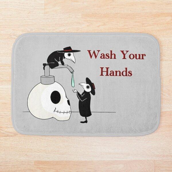 Wash your Hands! Plague doctors.  Bath Mat