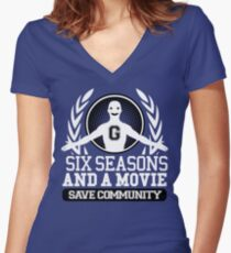 #Six Seasons and a Movie Women's Fitted V-Neck T-Shirt
