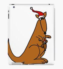 Funny Cool Christmas Kangaroo with Santa Hat iPad Case/Skin
