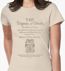 Shakespeare, Othello 1622 Women's Fitted T-Shirt
