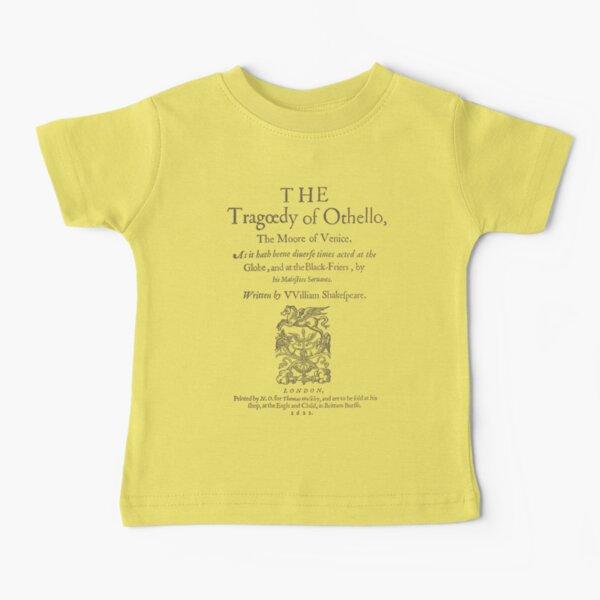 Shakespeare, Othello 1622 Camiseta para bebés