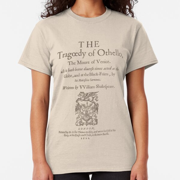 Shakespeare, Othello 1622 Camiseta clásica