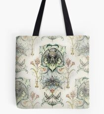 Antique pattern - Spider and Moths Tote Bag