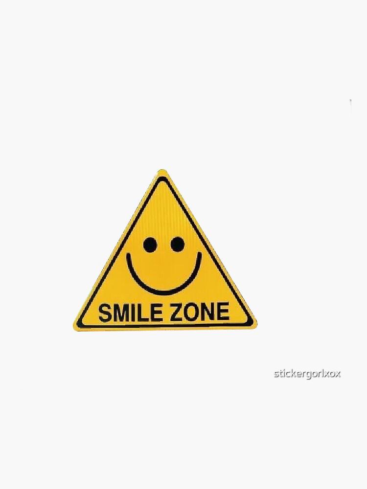 smile zone happy yellow aesthetic summer sunshine smiley by stickergorlxox