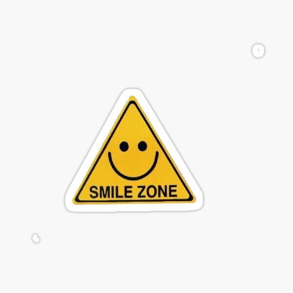 zone de sourire heureux jaune esthétique soleil d'été smiley Sticker