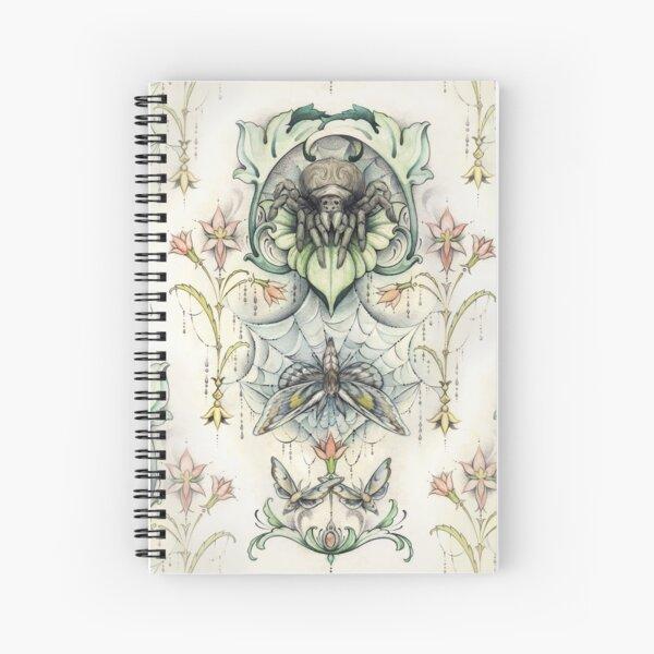 Antique pattern - Spider and Moths Spiral Notebook