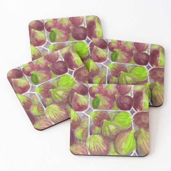 Jerusalem Figs - Realistic Watercolor Coasters (Set of 4)
