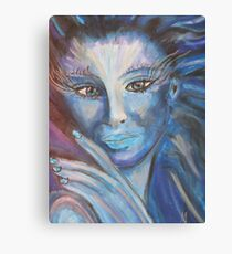 Fantasy Lady in blue - MW Art Marion Waschk Canvas Print