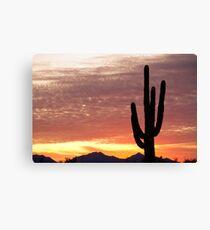 Arizona Saguaro Sunrise Canvas Print
