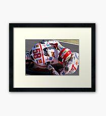 Marco Simoncelli 58 Framed Print