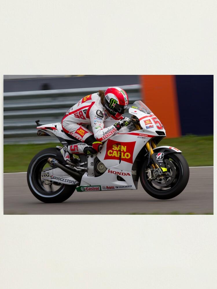Marco Simoncelli impresión fotográfica Moto Gp