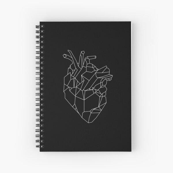 Geometric Heart (black ver.) Spiral Notebook