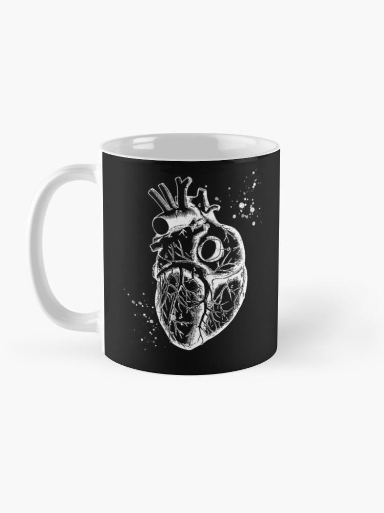 Alternate view of Anatomical Heart • Black • Minimalist Goth Mug