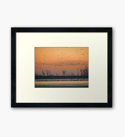 Early Winter Sunrise Framed Print