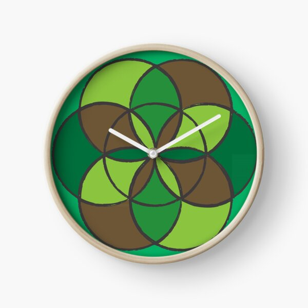 Flower of Life - Trees and Leaves Clock