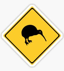 Caution With Kiwis, Traffic Sign, New Zealand Sticker