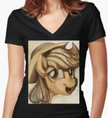 A Silly Pony Women's Fitted V-Neck T-Shirt
