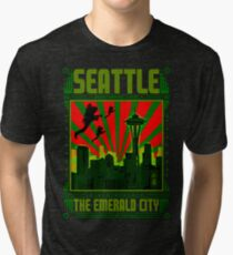 SEATTLE - THE EMERALD CITY Tri-blend T-Shirt