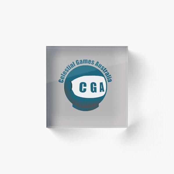 Celestial Games Australia Logo Acrylic Block