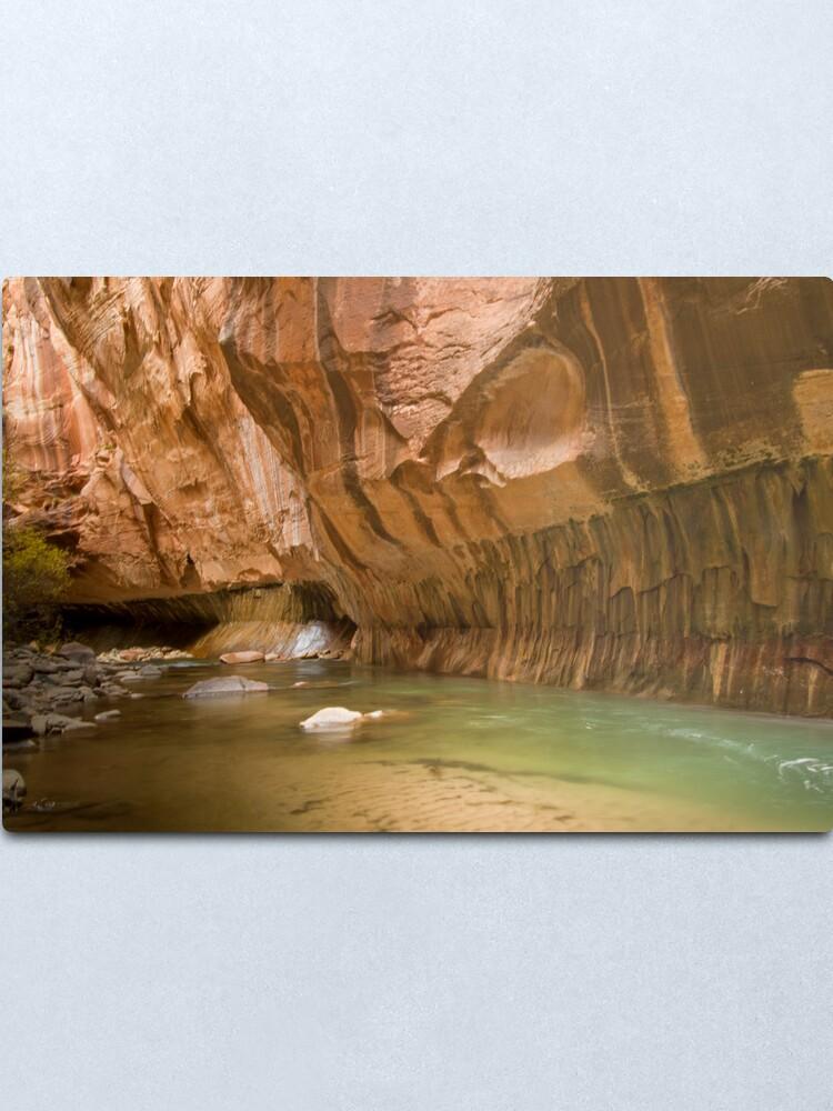 Alternate view of Zion Narrows Slot Canyon Metal Print