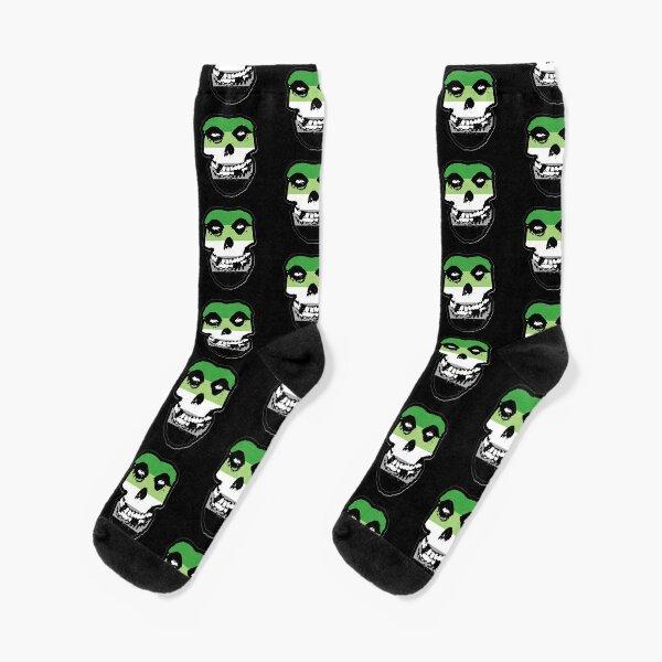 Misfits Fiend Skull Logo Rétro sublimées Premium All Over Print pour homme Crew Socks