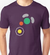 Gamecube Controller Button Symbol Slim Fit T-Shirt