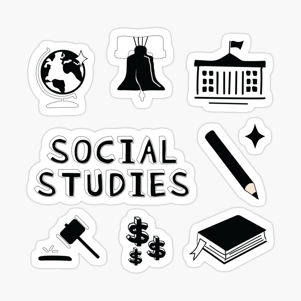 black social studies subject pack canvas print by the goods redbubble redbubble