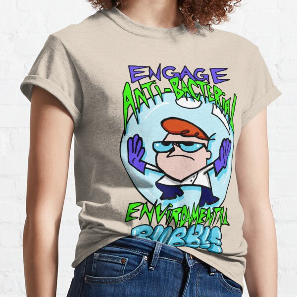 "Dexter from Dexter's Laboratory™ ""Engage Anti-Bacterial Environmental Bubble"" Quote Classic T-Shirt"
