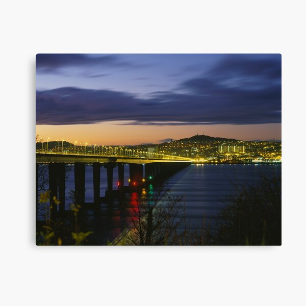 Tay Bridge heading to Dundee Canvas Print
