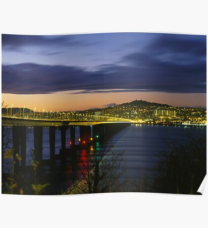 Tay Bridge heading to Dundee Poster
