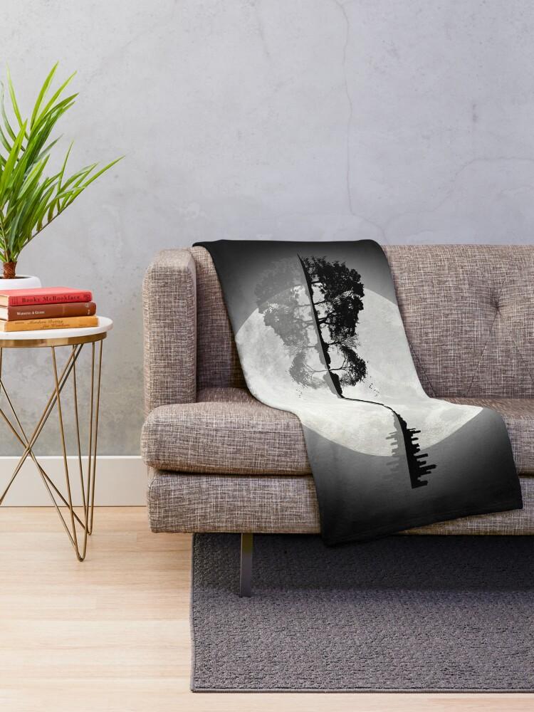 Alternate view of Moonlight Nature Guitar Throw Blanket