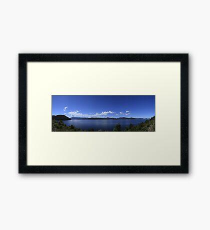 Lake Burbury,Tasmania, Panorama Framed Print