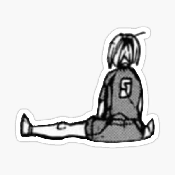 kenma sitting Sticker