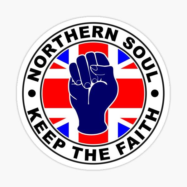 Classic Northern Soul Keep the Faith union flag Sticker