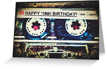 Card - Happy 18th Birthday (Mixtape) by Justin Ashleigh Jones