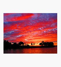 Sky Blaze at Frink Photographic Print