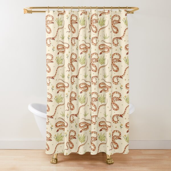 Cornsnakes and Weeds Shower Curtain