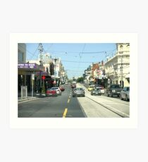 Narrow streets of Melbourne Art Print