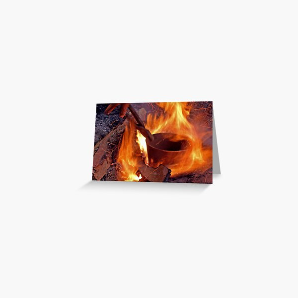 Copper in Fire Greeting Card