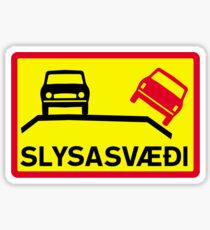 Accident Risk Area, Traffic Sign, Iceland Sticker
