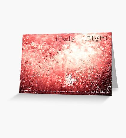 Holy Night Card Greeting Card