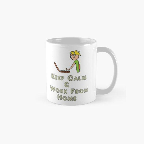 Keep Calm and Work From Home Classic Mug