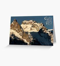 Mountain Christmas ~ Austria ~ Europe Greeting Card