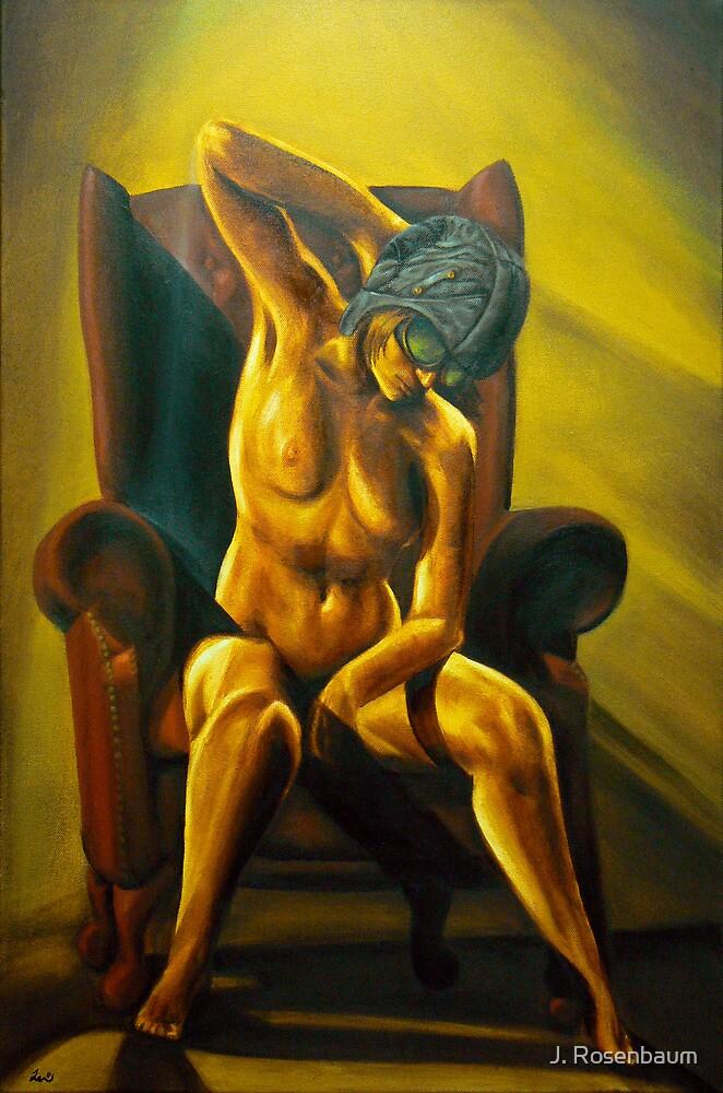 Aviatrix - Steampunk Nude art by J. Rosenbaum